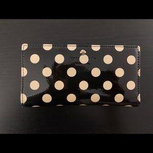 Kate Spade New York Polka Dot Patent Black / Ivory